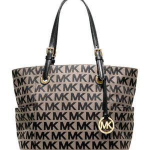 Black Monogrammed Michael Kors Shoulder Bag